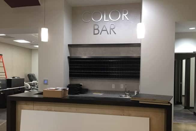Evolve Salon and Spa Constructing the Color Bar